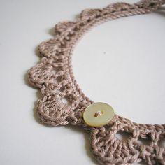 DIY: crochet necklace