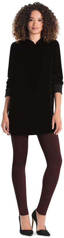 Alice + Olivia Baron Velvet A-Line Hooded Sweater Dress