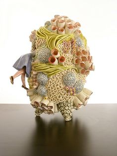 Megan Bogonovich's Ceramic Sculptures Of Oversized Coral Reefs Are Detailed Fa… – Ceramic Art, Ceramic Pottery Pottery Sculpture, Sculpture Clay, Ceramic Sculptures, Ceramic Sculpture Figurative, Organic Sculpture, Ceramic Clay, Ceramic Pottery, Contemporary Ceramics, Contemporary Art