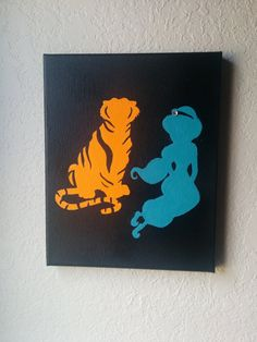 For kids room - classic Disney Aladdin! Great for a girl or a boy! Hey, I found this really awesome Etsy listing at https://www.etsy.com/listing/202774998/jasmine-rajah-hand-painted-silhouette-on