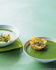 Spinach and Pea Soup Recipe