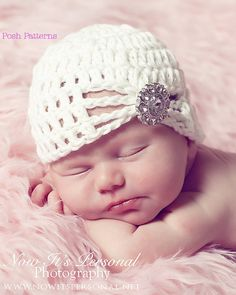 Crochet Hat PATTERN Fancy Crochet Baby Beanie PDF 240 - Newborn to Adult - Permission To Sell Finished Items - Photography Prop. $3.99, via Etsy.