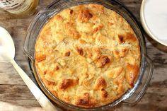 Mmm! Eggnog Bread Pudding, Brioche Bread Pudding, Dessert Recipes, Desserts, Holiday Treats, Apple Pie, Rum, Glaze, Sweet Treats