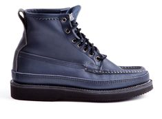 Russell Moccasin for Double Select, Bird Shooter in Navy Elk Leather