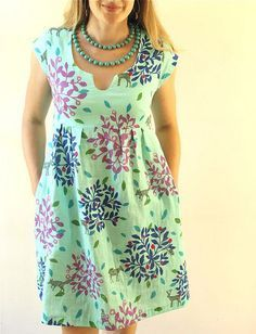 Aqua Double Gauze Washi Dress — Made by Rae - - Another Washi Week Washi for you today, just in time for you to sew your own this weekend!If you want to make absolutely the most comfortable Washi Dress in the.