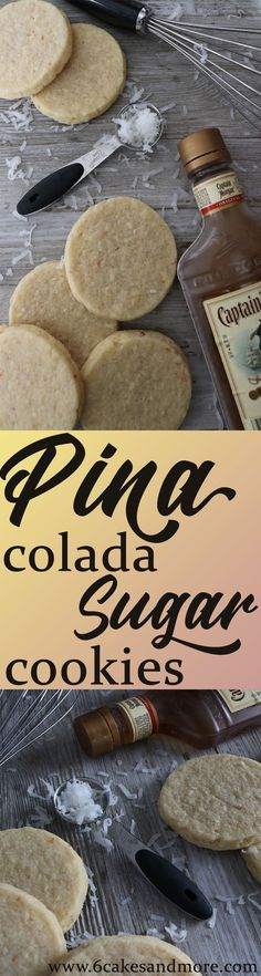 "You know what they say, ""If you like Pina Coladas."", then you need to make these Pina Colada Sugar Cookies! Cut Out Cookie Recipe, Best Sugar Cookie Recipe, Cookie Dough Recipes, Best Sugar Cookies, Cut Out Cookies, Easy Cookie Recipes, Cookie Ideas, Cookie Flavors, Yummy Cookies"