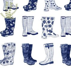 Welly Illustration - Google Search #google #illustration #search #welly Fashion Illustration Sketches, Fashion Sketches, Shoe Illustration, Drawing Rain, Rain Boots Fashion, Garden Boots, Conversational Prints, Animal Wall Decals, Wellies Boots