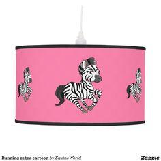 Running zebra cartoon pendant lamp
