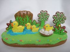 3D duck pond cookie. Wow !
