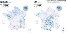 Les naissances et les morts en France en 2011.