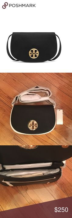 """NWT Tory Burch Authentic Jamie Crossbody NWT in original wrapping Tory Burch Authentic Black Jamie Clutch. GREAT HOLIDAY GIFT! Crafted from rich pebbled leather embellished with a polished logo medallion. The style features multiple pockets and compartments and doubles as a hands-free cross-body when you attach the optional, adjustable strap. So versatile, it's perfect for days on the go or evenings out. Height: 5.98"""" (15 cm) Length: 10.36"""" (26 cm) Tory Burch Bags Crossbody Bags"""
