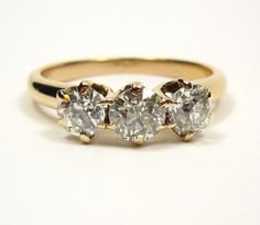 Antique 1900 Old Mind Cushion Cut Diamond by TreasurlybyDima, $2985.00  cheap but splendid