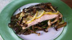 Clinton Kelly's Wild Salmon with Mushrooms & Asparagus