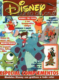 Revistas COMPLETA de manualidades Gratis: Punto Cruz Monsters Inc