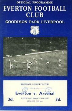 Everton v Arsenal 1957-58 Match programe
