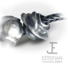 Bead Rosa Bifronte - Argento 950 -  Estefian Jewels