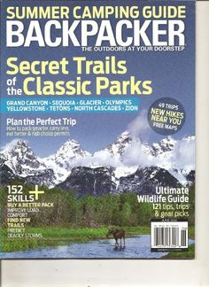 BACKPACKER MAGAZINE (THE SECRET TRAILS OF CLASSIC « Library User Group