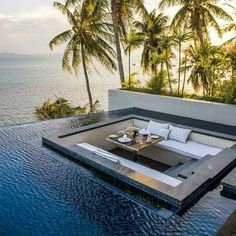 Inspiring Architecture Conrad Koh Samui, Tayland Dream Home Remodeling: Is It Really a Dream? Beautiful Homes, Beautiful Places, Beautiful Sunset, Luxury Pools, Luxury Cars, Swimming Pool Designs, Swimming Pools, House Goals, Outdoor Pool