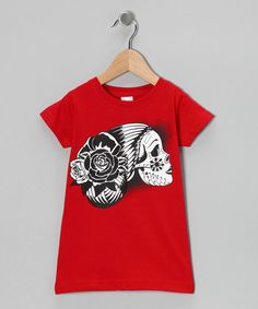Take a look at this Red Drop Dead Gorgeous Tee - Toddler & Girls by Garage Gang on today! Tunic Leggings, Drop Dead Gorgeous, Beautiful, Toddler Boys, Infant Toddler, Stylish Kids, My Princess, Look Cool, Cotton Tee