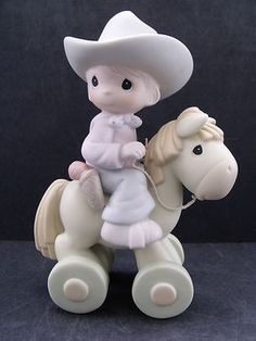 "Precious Moments ""Happy Trails"" Mark PM 981 New in Box Precious Moments Figurines, Find Color, Happy Trails, My Precious, Little People, Clip Art, In This Moment, Favorite Things, Cupcakes"