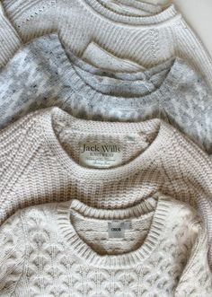 neutral knits  #sweaters  #cozy