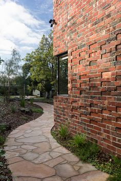 This project is a twin courtyard house with passive design features, made for clients looking for a sustainable home to retire in. Brick Courtyard, Courtyard Design, Courtyard House, Recycled Brick, Passive Design, Electric House, Clerestory Windows, Design Strategy, Brickwork