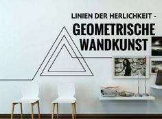 linien der herrlichkeit geometrische wandkunst. #wundkunst #wanddekoration