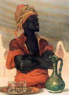 MILLET, Francis 'Frank' Davis (1846-1912) American artist:  'Turkish Water Seller'