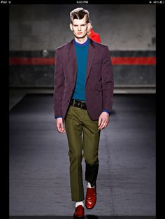 somehow the clash in colour works  Acne Fall 2012
