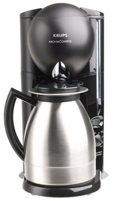 Krups 229-4G Aroma Control 10-Cup Coffeemaker with Thermal Carafe, Black and Brushed Stainless Steel, DISCONTINUED *** More details can be found by clicking on the image.