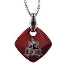NC State Red Enamel Square Pendant