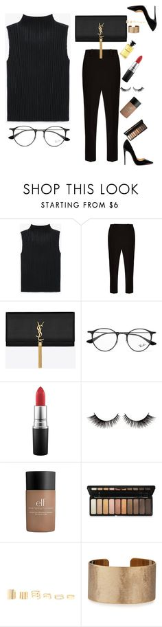 """Untitled #1252"" by minadinamike on Polyvore featuring The Row, Yves Saint Laurent, Ray-Ban, MAC Cosmetics, e.l.f., Forever 21, Panacea, Louis Vuitton and Christian Louboutin"