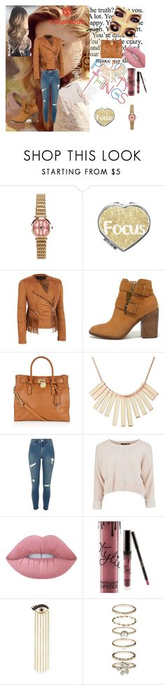"""Contest snapmade"" by merimaa997 ❤ liked on Polyvore featuring Steve Madden, MICHAEL Michael Kors, Marc by Marc Jacobs, River Island, Lime Crime, Kylie Cosmetics, Sydney Evan and Accessorize"