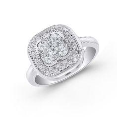 Endless Diamond Square Frame Ring
