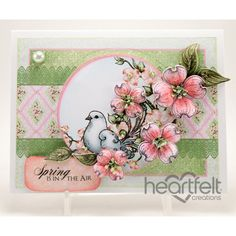 Heartfelt Creations - Spring Dogwood And Dove Project