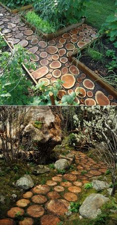 Alternative Gardning: How to build a log pathway