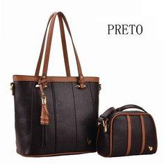 a90e55d6a bolsa feminina saco 2 alça moda modelo kit com duas peças