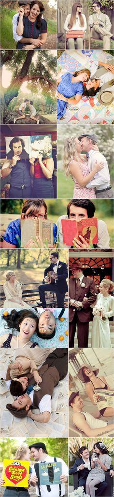 46 Beautiful Vintage-Inspired Engagement Photos - Joyful