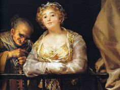 Francisco de Goya - Maja and the Procuress on the Balcony, 1812 at Prado Museum Madrid Spain