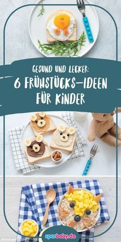 Healthy food for children: 6 ideas for a delicious breakfast - Essen - Healty Snacks Healthy Breakfast Recipes, Easy Healthy Recipes, Brunch Recipes, Baby Food Recipes, Healthy Snacks, Breakfast Ideas, Healthy Eating For Kids, Food Presentation, Kids Meals