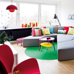 That Sofa is too cool, and all the colours i love it :D