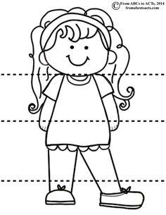 Head Shoulders Knees and Toes - Girl Let child color one every month/year/whatever. Record age,height, weight on the back and color something different on the back of each one. Laminate and cut into puzzle. Keep them all in an envelope for crazy match up and nostalgia.