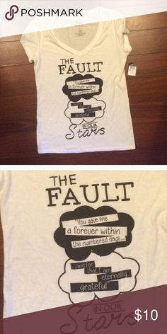NWT The Fault in our Stars shirt  NWT The Fault in our Stars shirt  The Fault in our Stars Tops Tees - Short Sleeve