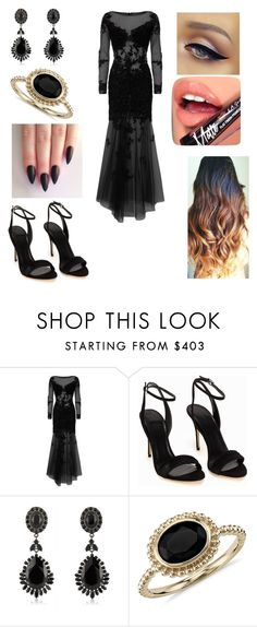 """Untitled #1451"" by vanessa898 ❤ liked on Polyvore featuring Jovani, Polo Ralph Lauren, Givenchy, Blue Nile and Fiebiger"