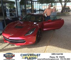 Congratulations to Reb Burroughs on your #Chevrolet #Corvette purchase from Mark Ackerman at Huffines Chevrolet Plano! #NewCar