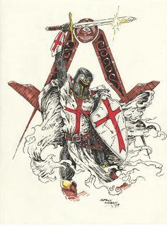 22 Best Templar Knight Tattoo Images Knights Templar
