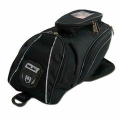Tank #Bag Slik Accesorios Bolso para llevar en el #tanque de la #moto. Tiene cuatro bolsillos con cierre, aletas en la parte de abajo con imanes como sistema de amarre, herrajes plásticos y aplique en pvc y vivo reflectivo.  Capacidad: 1.5lts http://www.slik.com.co/coleccion/motos.html