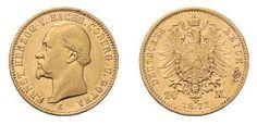 Peter Rapp AG - Internationale Briefmarkenauktionen - Spitzenergebnisse 2014 /     Herzogtümer Sachsen-Coburg und Gotha: Ernst II., 1844-1893. 20 Mark 1872 E. J. 270. Verkaufspreis*: CHF 70'760.–