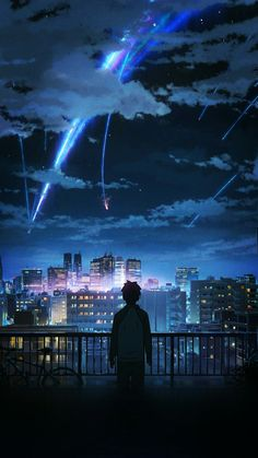 kimi no na wa - imagenes parte 2 - Wattpad Anime Backgrounds Wallpapers, Anime Scenery Wallpaper, Animes Wallpapers, Cute Wallpapers, Wallpapers Android, Japon Illustration, Digital Illustration, Film Anime, Anime Art