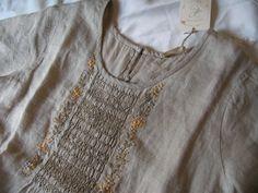 シュシュドママン(chou chou de maman) ミモザ+スモッキング刺繍 ワンピースの商品写真です